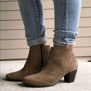 Barneys New York Studded Suede Ankle Booties 7